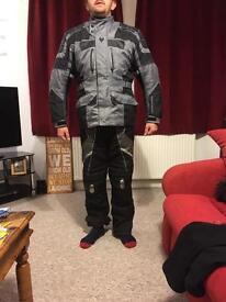 Frank Thomas motorbike jacket and trousers large