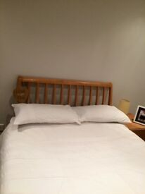 Solid wood small double bed in ex condition