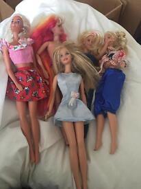 Barbie Job Lot. 8 dolls, car, horse moped. 1995-2001