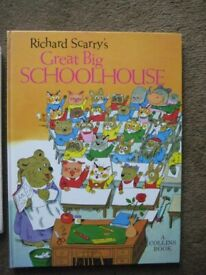 Richard Scarry's Great Big Schoolhouse Hardback Book in Full Colour for ONLY £3.00