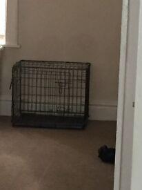 Dog training cage