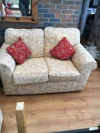 Good condition bargain 1x 2 seater sofa and 1x 2 seater sofa bed