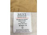 1 pair of Next Silk New Gold Tab Top curtains
