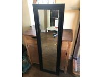 Black Wood Framed Mirror