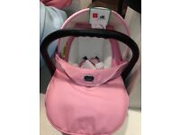 Pink limited edition vib pram and car seat set