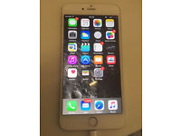APPLE IPHONE 6 PLUS 16GB HAS CRACKED LCD WHITE PART AS SEEN IN PIC UNLOCKED