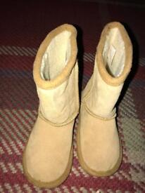 Baby fur winter boots size 5