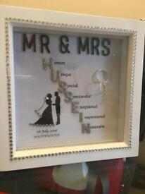 Personalised wedding/anniversary gift.