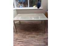 Glass table top and chairs