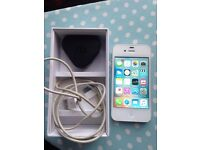 iphone 4s 16gb white Unlock with Box