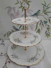 "Royal Albert ""Haworth"" XL cake stand"