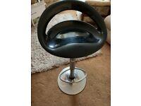 Black and Chrome Bar stool