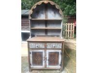 Stunning antique solid oak Welsh dresser