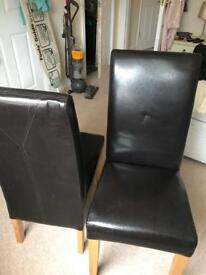 Real leather chairs