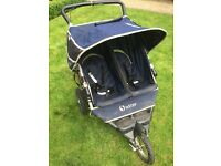 Double Buggy NIPPER In-Step, all terrain tyres