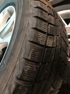 215/60 R16 winter tires with Hyundai mags. Tyres in good condition.