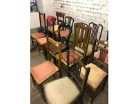 Various chairs , different styles .... all good condition All structurally good . £30 each
