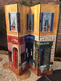 Beautiful Paris Linen Double Sided Screen - 180cm height