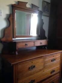 Antique Dresser and wardrobe 1920's