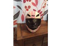AGV Woman's Motorbike helmet PINK/WHITE * BRAND NEW *
