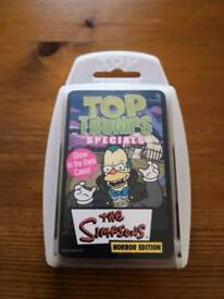 Simpsons Horror Edition Top Trumps