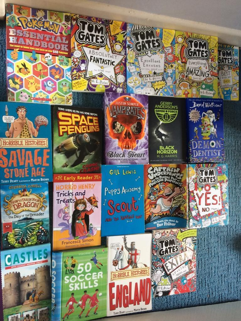 19 Childrens booksin Norwich, NorfolkGumtree - 19 books all in good condition and very cheap for what the for all cost together1x Pokemon 6x tom gates 2x horrible history 1x how to train your dragon1x horrid henry 1x vampires 1x 50 football skills 1x castles1x captain underpants 1x David...