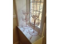 Two x three tier cupcake / scone / biscuit / jewellery / plant display stands