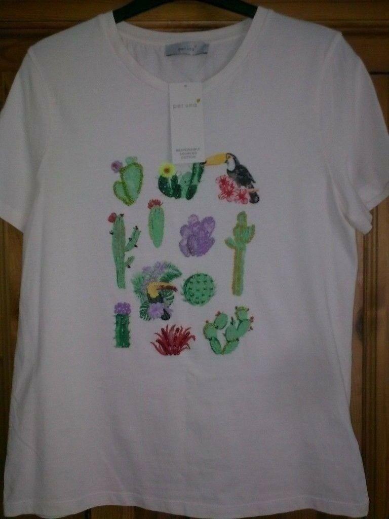 M/&S Per Una Print 3//4 Sleeve Dress Size 10 RRP £45