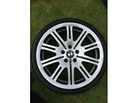 """Genuine M3 E46 19"""" alloy wheel with tyre"""