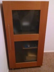 Oak Computer work station/ cabinet Teemo.