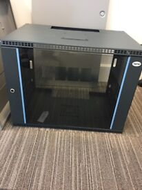 Wall Mounted Comms cabinet 57wx37dx50h - grey