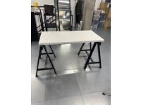 Ikea tabletop with stands, 2 tabletops available for extra large desk