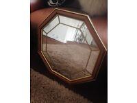 Beautiful large ornate wooden mirror