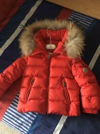 Genuine moncler coat age 3