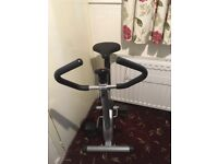 Exercise Bike. With electronic speed, calories, time and distance indicator. Used only a few times.