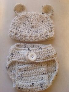 Crochet baby bear diaper cover sets
