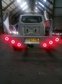 Custom pickup rear bumper