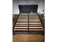 Faux Leather King Size Bed Frame