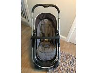 icandy Strawberry in earl grey travel system with besafe car seat stage 1
