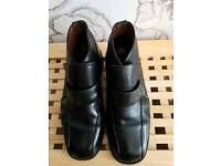 Mens 100% Italian Leather Boots Size 9UK