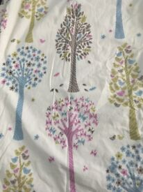 Curtains - Pair of John Lewis Children's Curtains with blackout lining, trees
