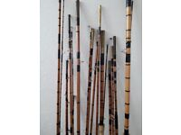 I am selling 7 vintage bamboo rods with cloth sleeves £8.00 each or all 7 for £30 collection only
