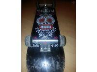 Death Deck and Wheels Skateboard - Venture Trucks- Very Good Condition
