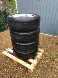 4x Winter tyres on BMW alloys - Dunlop SP Winter Sport 4D 205/55 R16 91H
