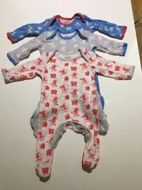 3 x Cath Kidston baby grows