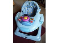 Blue sit in Baby Walker with activity tray - Shipley