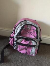 Pink child's ruck sack