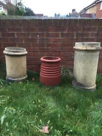 Vintage chimey pots