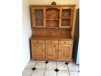 Dresser 140cm width X 46cm deep X 185cm high.