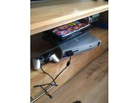 Silver ps2 with games